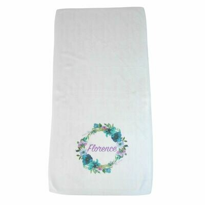 Personalised Baby Blanket - Floral Binki, Dribble Cloth