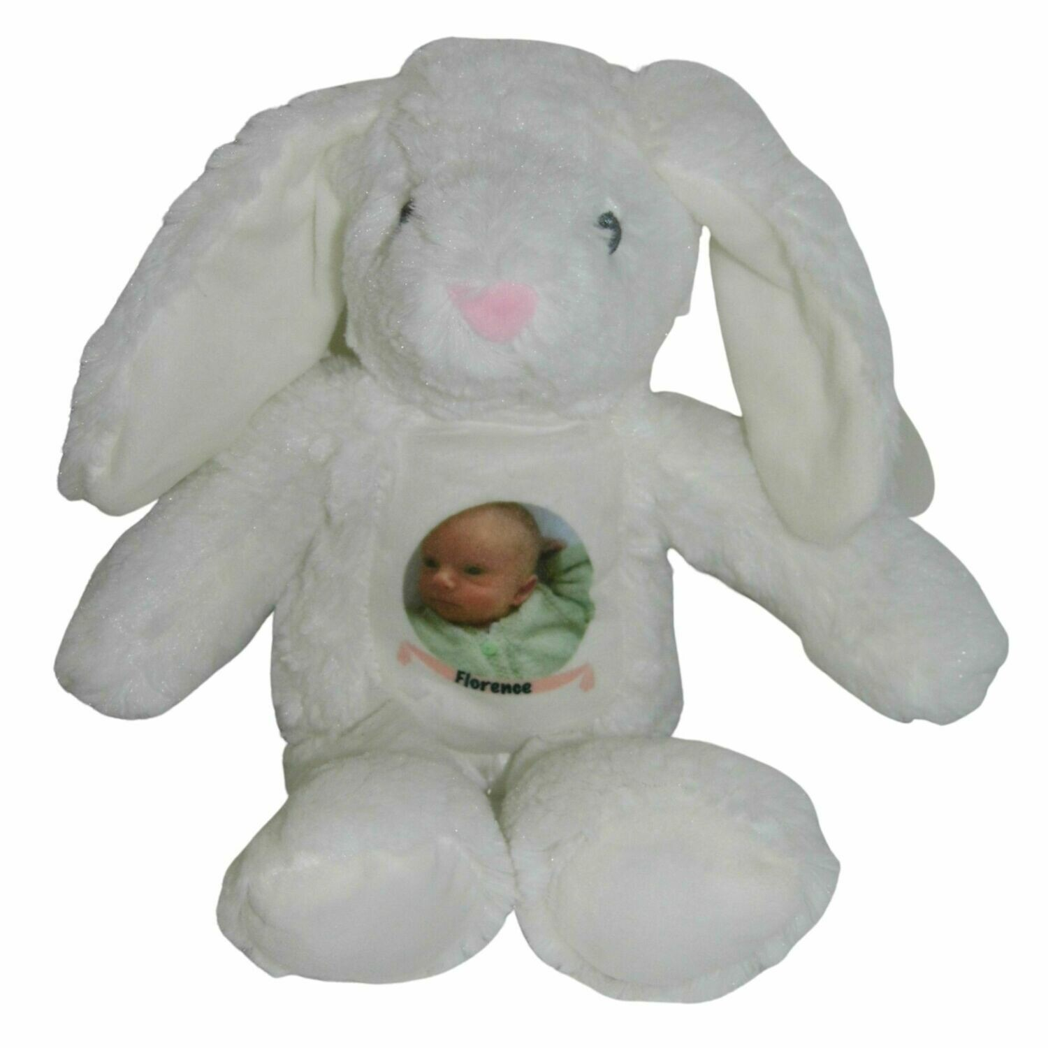Personalised Bunny Rabbit with your Baby Photo