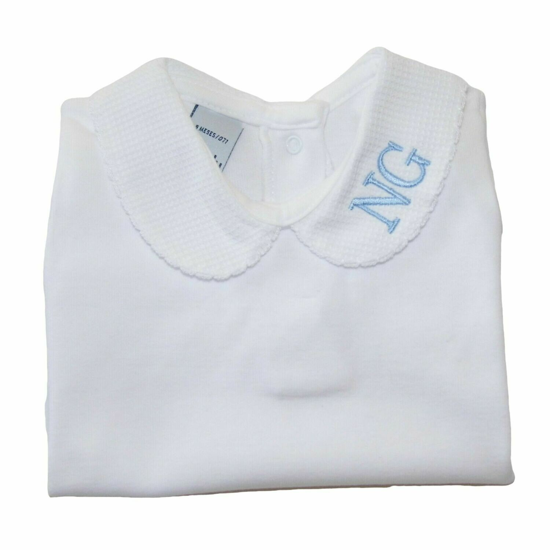 Personalised Baby Peter Pan Collar Baby Grow Sleepsuit