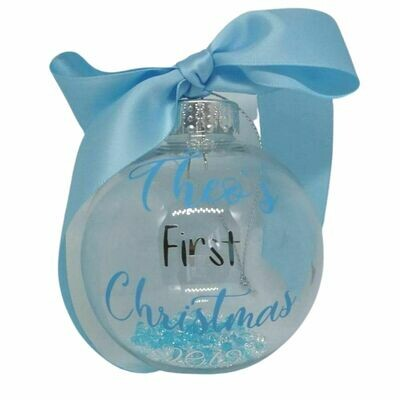 Beautiful Baby's First Christmas Bauble Decoration 8cm