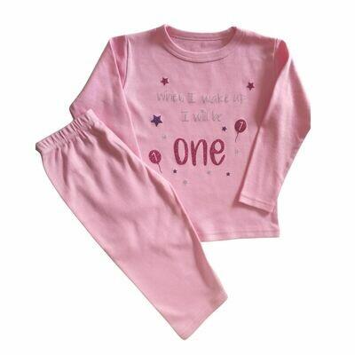 Personalised When i Wake up i will be One Pyjamas