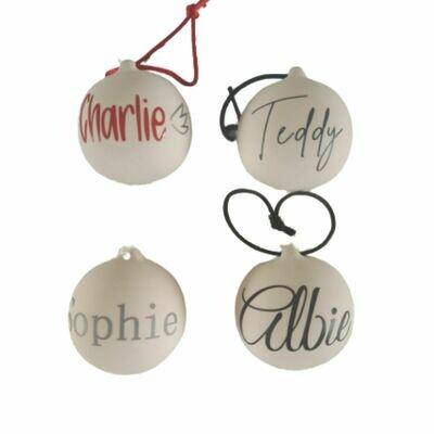 Personalised Ceramic Bauble Christmas Decoration x1
