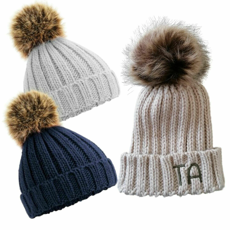 Personalised Pom Pom Hat