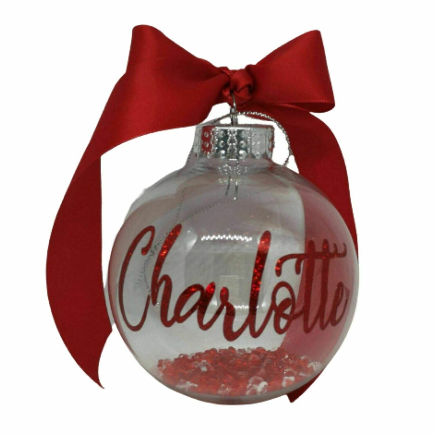 Sparkly Christmas Personalised Bauble 8cm