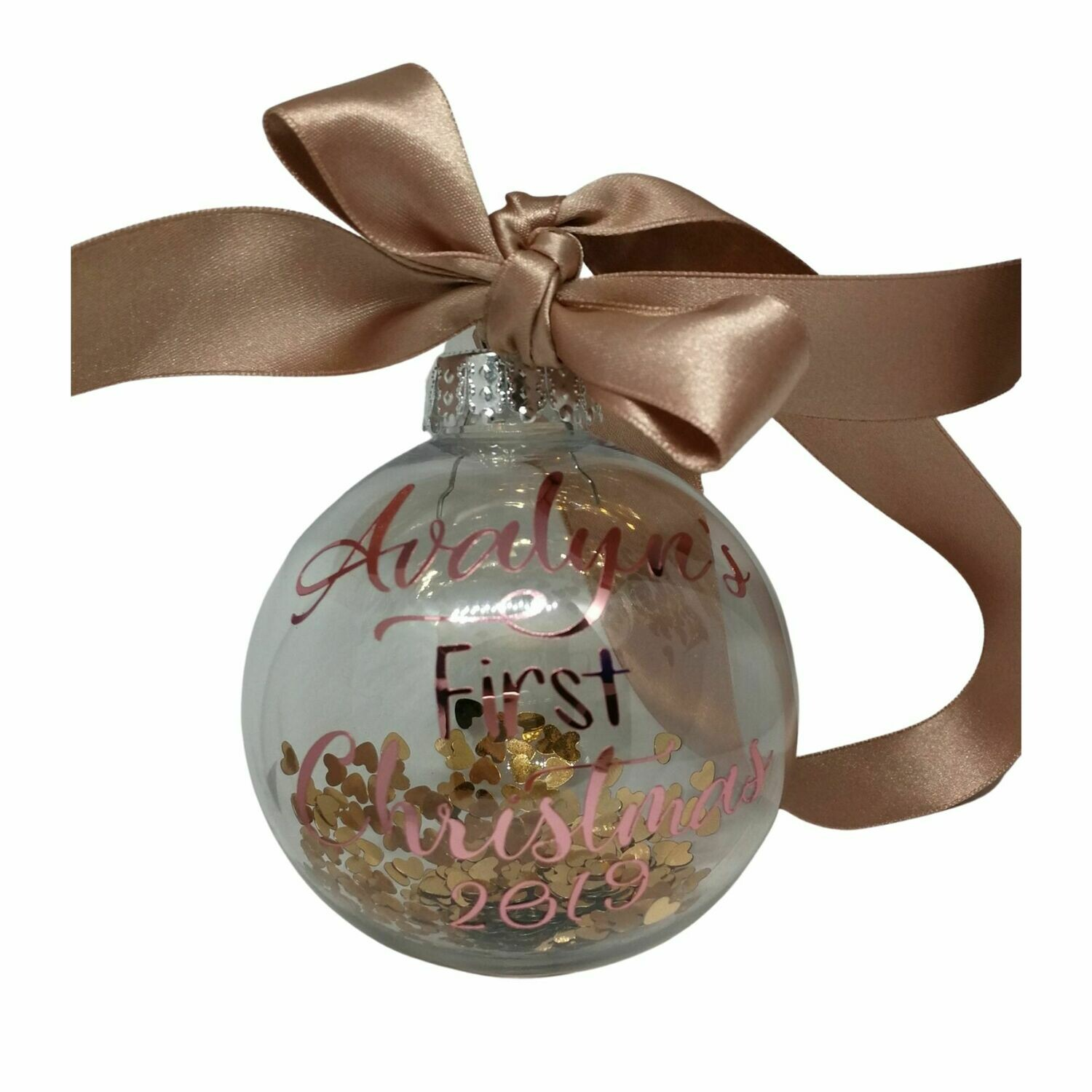 Personalised Baby's First Christmas Bauble -  8cm
