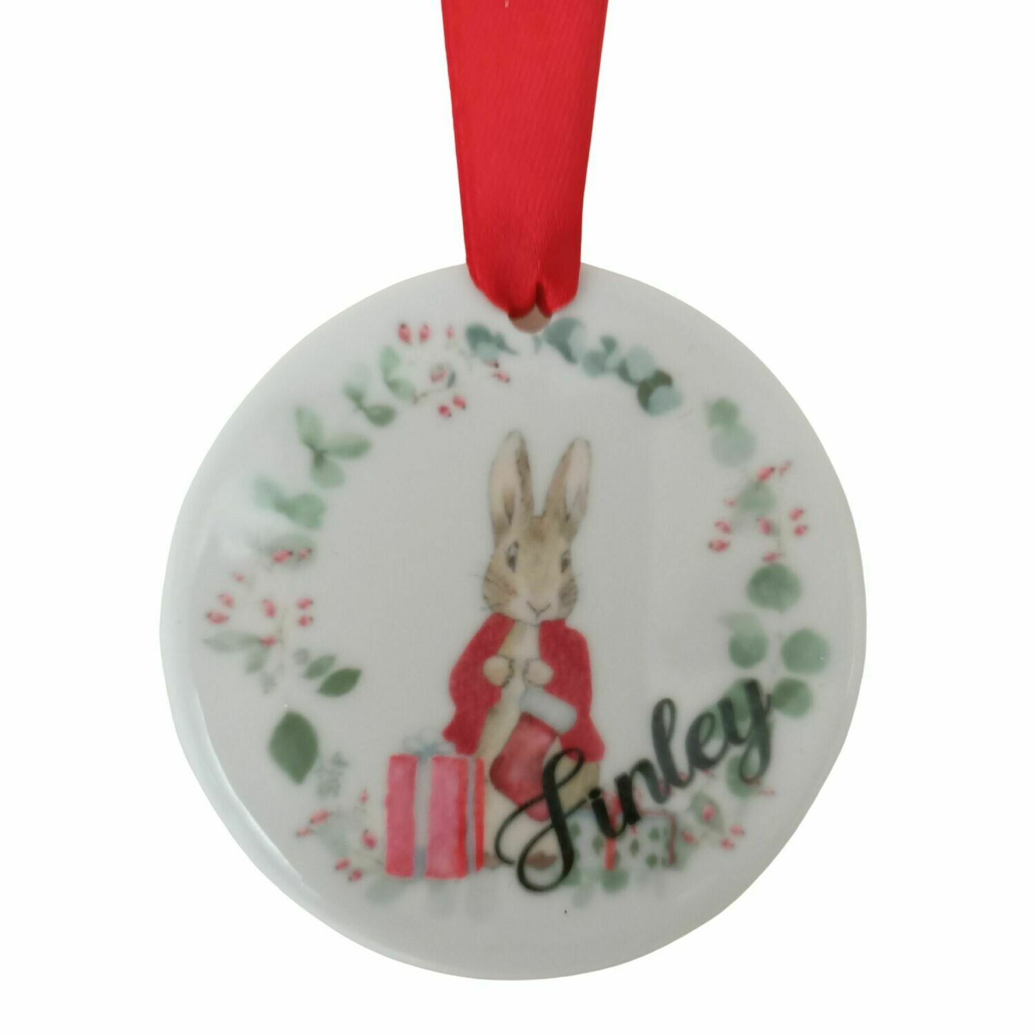 Personalised First Christmas Ceramic Christmas Decoration