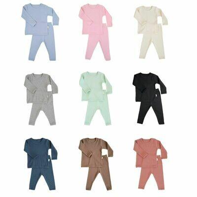 Personalised Ribbed Kids Loungewear Set
