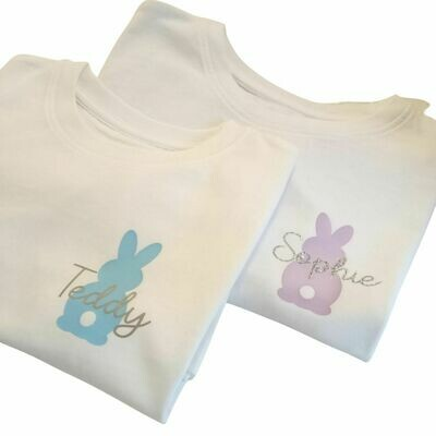 Easter Bunny Personalised Kids T-Shirt