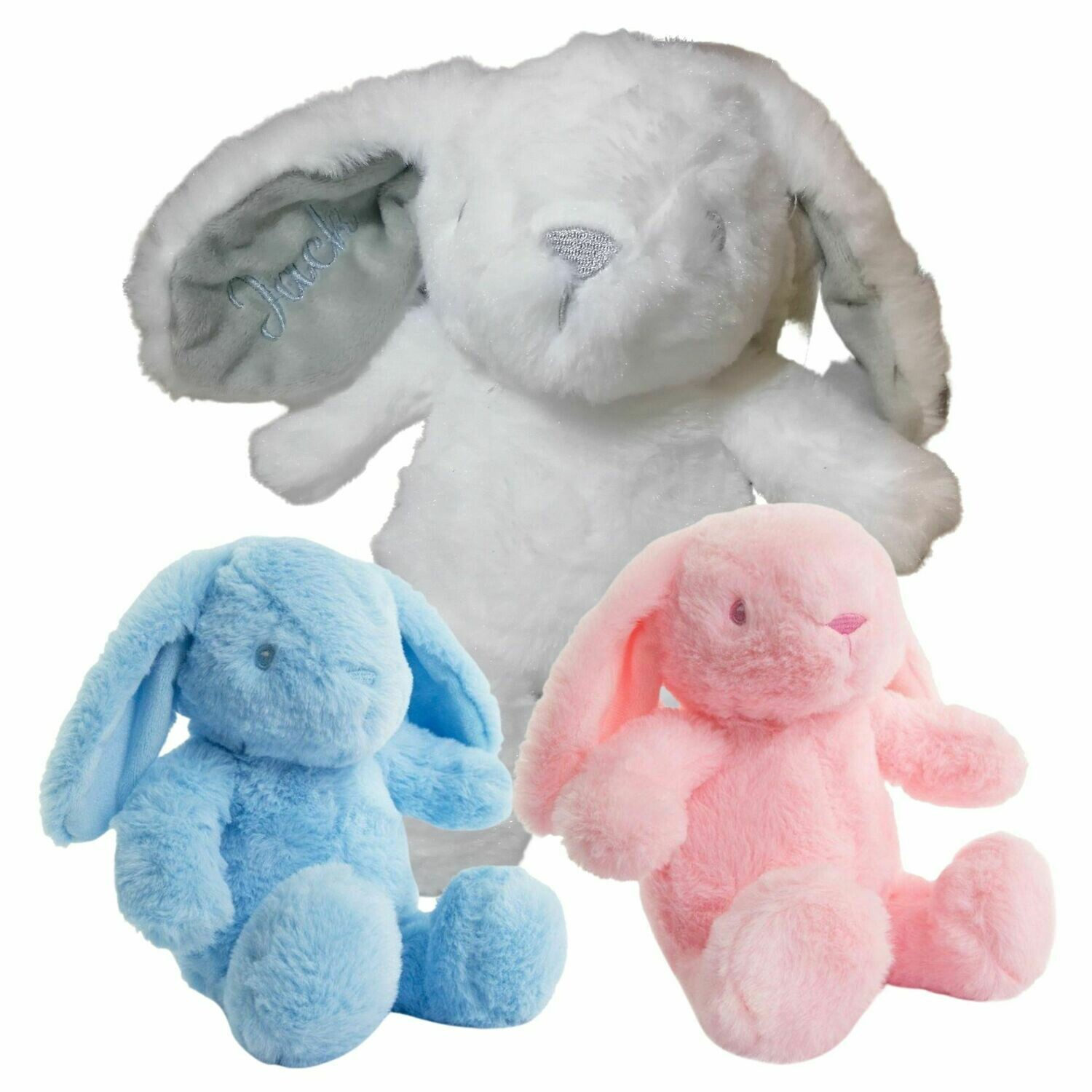 Personalised Bunny Rabbit Soft Toy - Embroidered Name