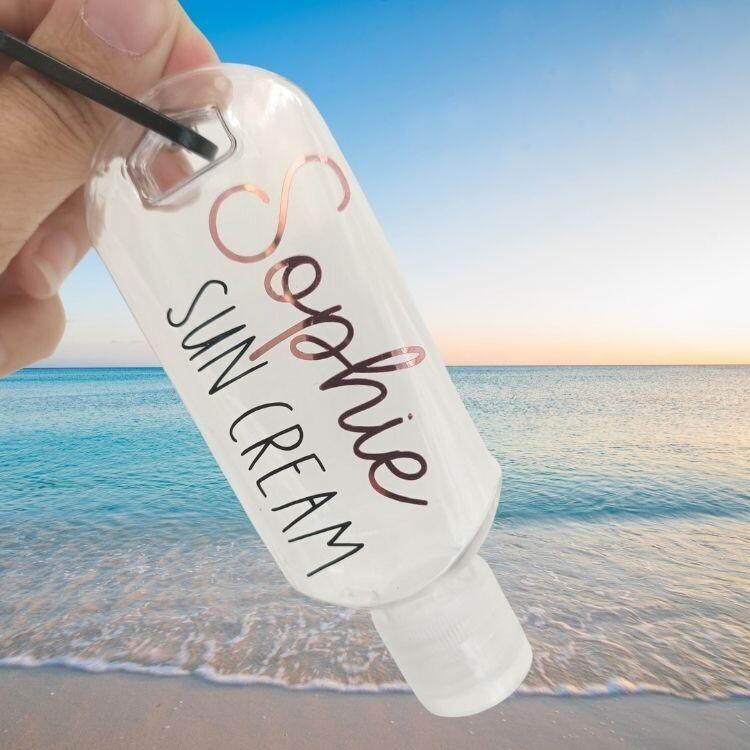 Personalised Children's Sun Cream Bottle