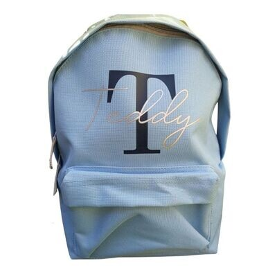Children's Personalised Initial Backpack