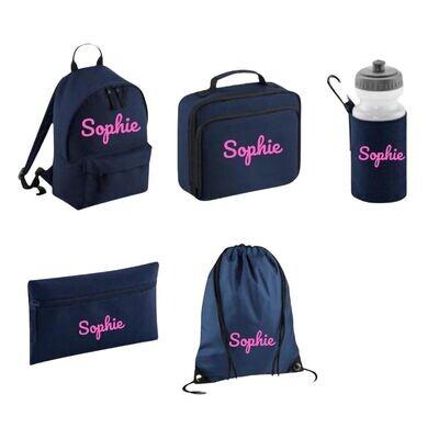 Personalised Back to School Bag Set Bundle
