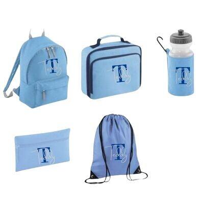 Personalised School Bag Set inc Backpack