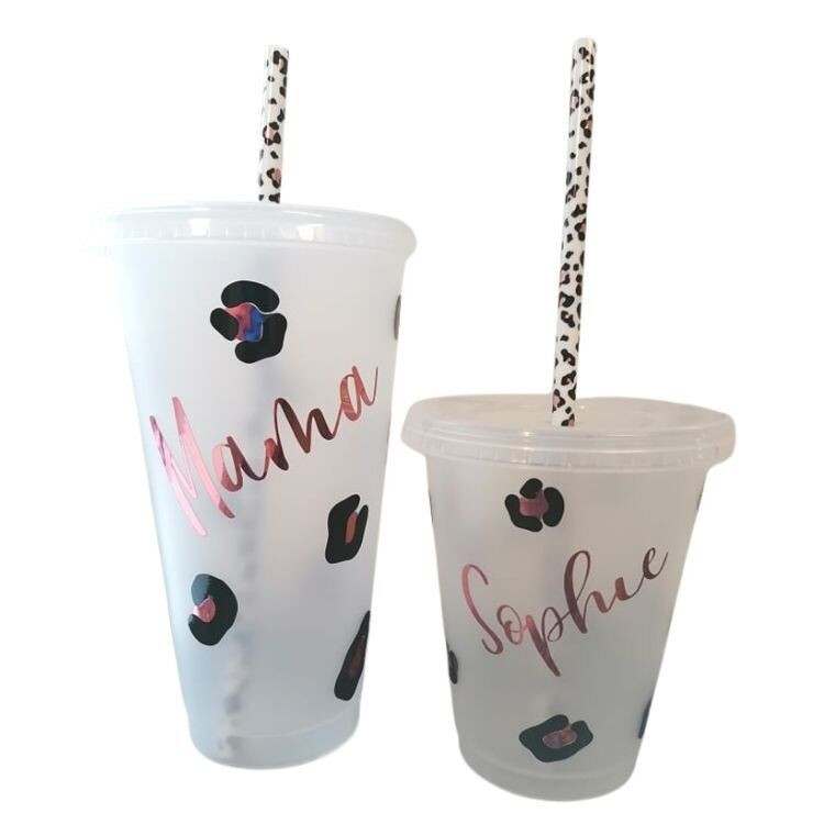 Personalised Cold Cup with Straw Tumbler