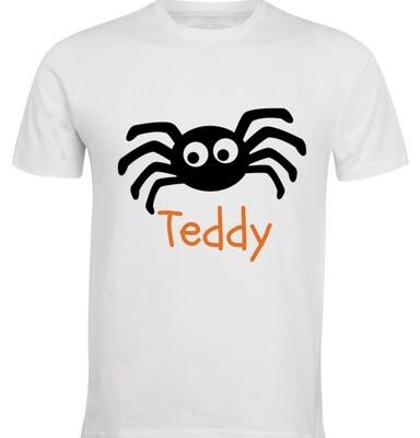 Personalised Kids Halloween T-Shirt - Spider