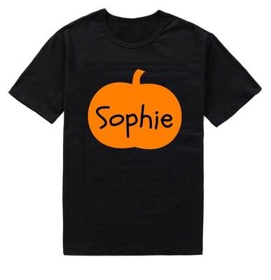 Personalised Children's Halloween Pumpkin T-Shirt