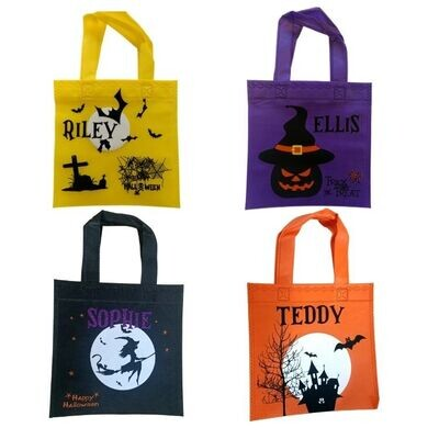 Halloween Personalised Trick or Treat Bags for Kids