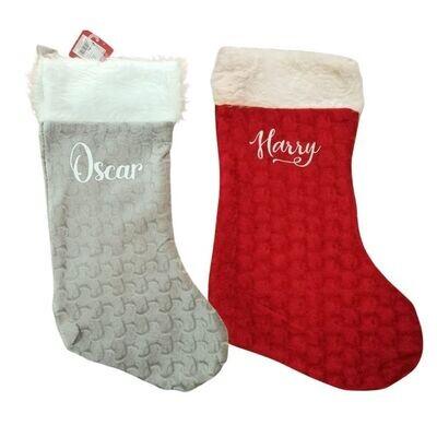Personalised Velvet Christmas Stocking