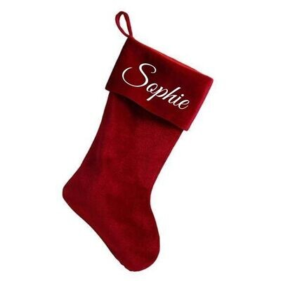 Personalised Deluxe Red Velvet Christmas Stocking