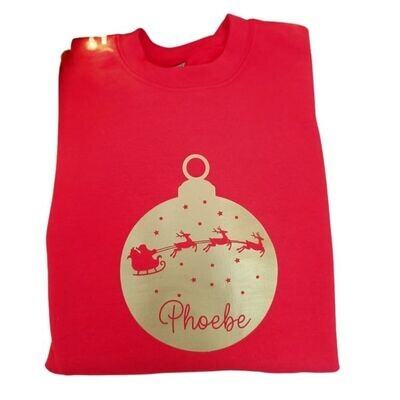 Personalised Christmas Jumper - Bauble - Kids & Adults