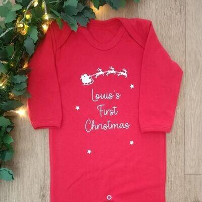 My First Christmas Personalised Sleepsuit