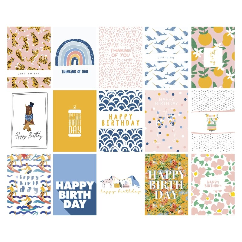 A Set of 15 Assorted Greeting Cards