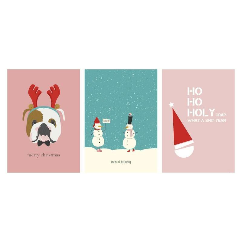 Christmas Cards - Set of 15- The NAUGHTY Set