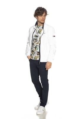 JECKERSON PANTS PA077 Pantalone stretch cinque tasche slim fit con toppe over frontali tono su tono