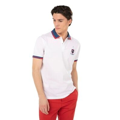 HARMONT&BLAINE POLO IN COTONE CON PATCH STILE YACHTING