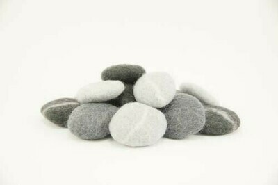 Felted River Stones, set of 15