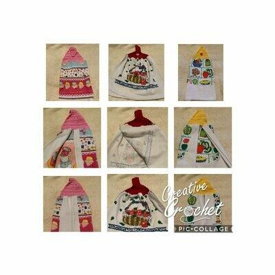 Set of 3 Crocheted Handtowels