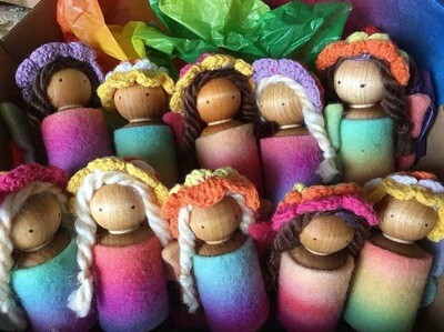 Party Pack Of 10 Rainbow Fairies, Mixed Colours