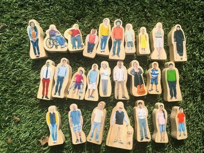 Everyone's Family Wooden People