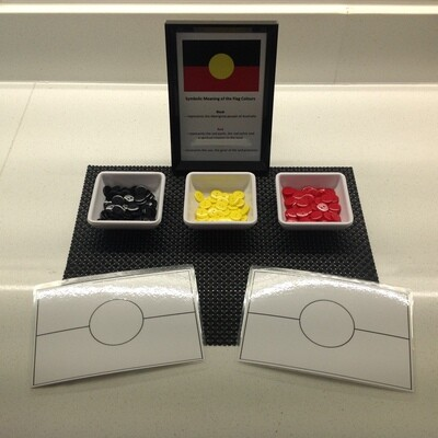 NAIDOC Inspired Buttons and Flags - Aboriginal