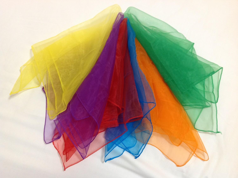 Rainbow Dancing Scarves Set of 6