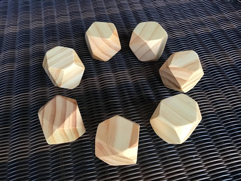 Wooden Natural Gems Set of 7