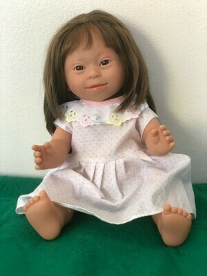 Doll with Down Syndrome facial features
