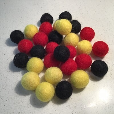 NAIDOC Inspired Felt Balls - Aboriginal
