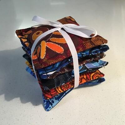 NAIDOC Inspired Bean Bag Stack - Art (Browns and Blues)