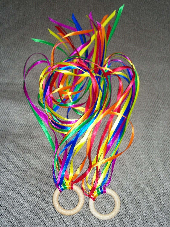 Rainbow Hand Kite Pair