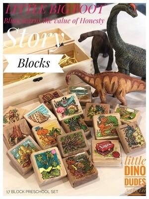 A. Wooden Story Blocks (17pcs Little Big Foot)