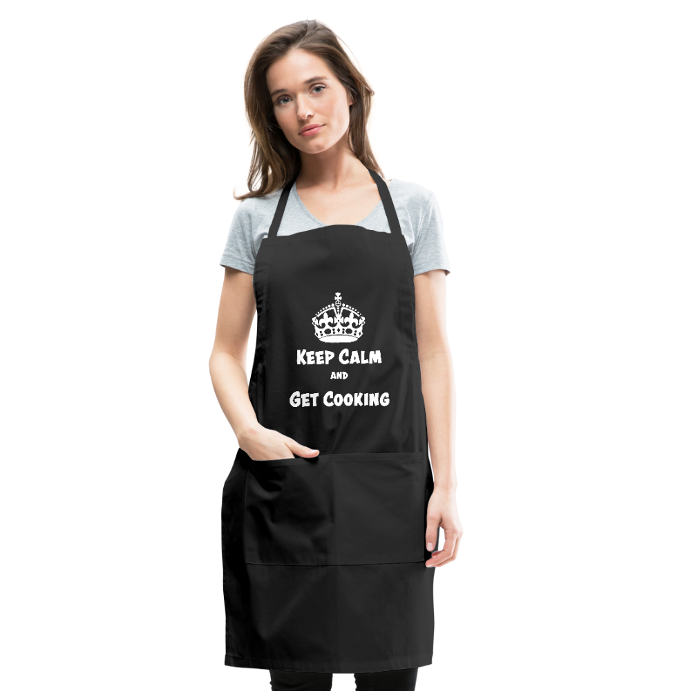 APRON - KEEP CALM AND GET COOKING - DARK DESIGN