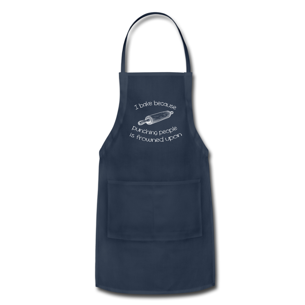 Apron - I bake because punching people is frowned upon