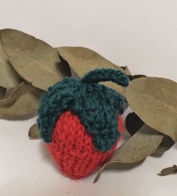 Knitted Strawberries, each