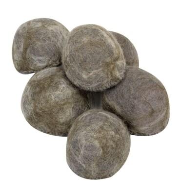 Felted Half Rocks, set of 6
