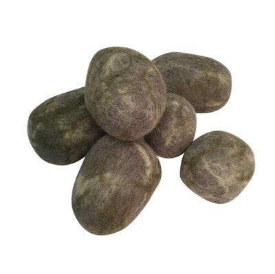 Felted Rocks, set of 6