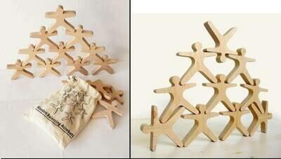 Balancing Acrobats - wooden