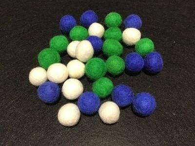 NAIDOC Inspired Felt Balls - Torres Strait Islander