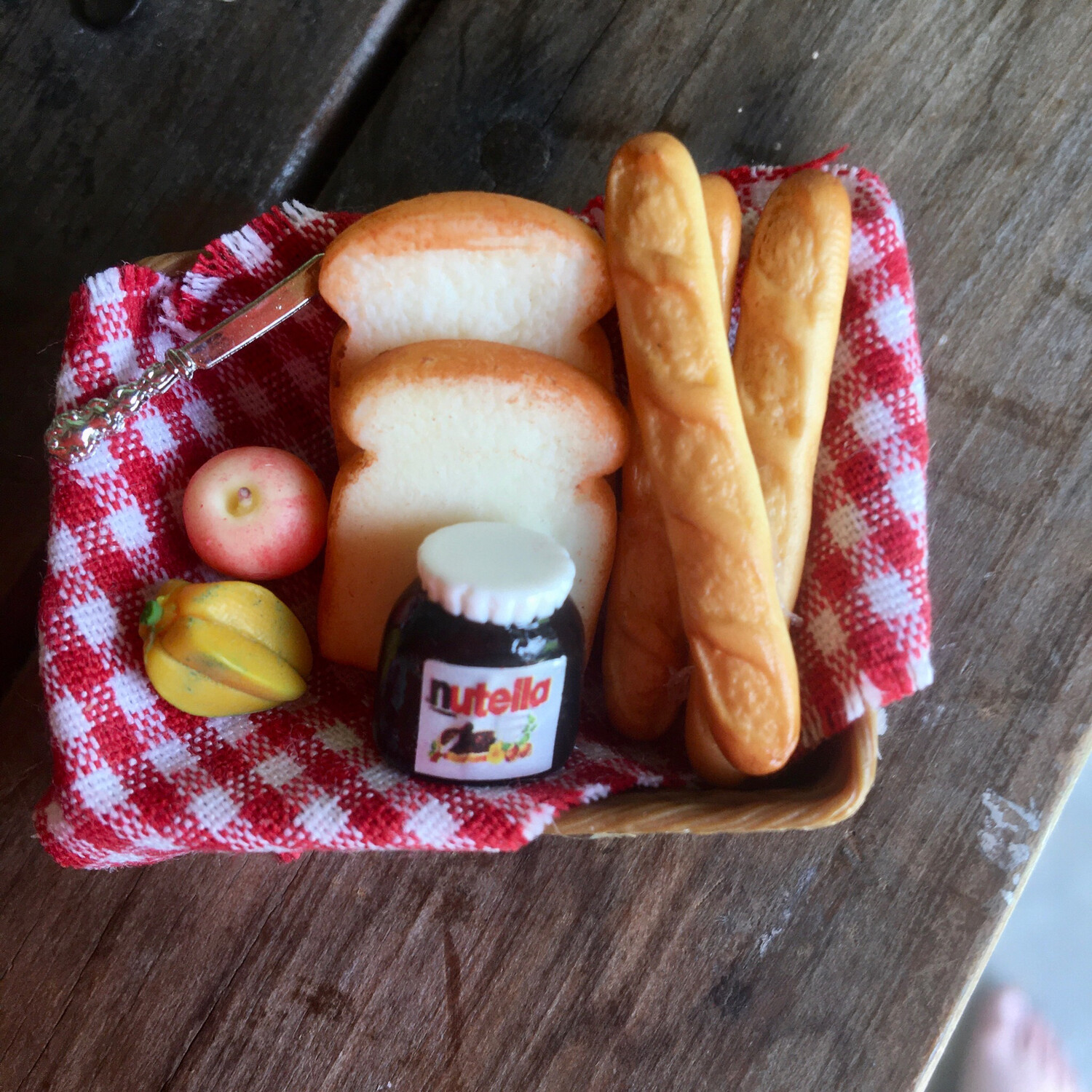 1/12 Scale Miniature Picnic Set - Nutella ( Dolls Not Included