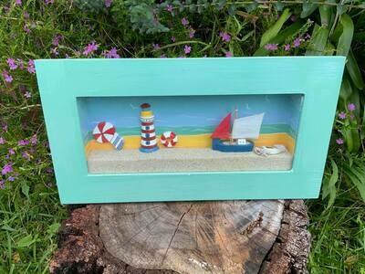 Beach Shadow Box Scene